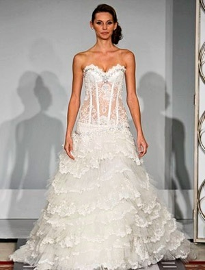 1000 images about wedding dresses on pinterest corset for See through corset top wedding dress