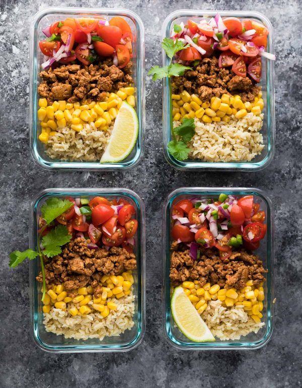 Turkey Taco Lunch Bowls