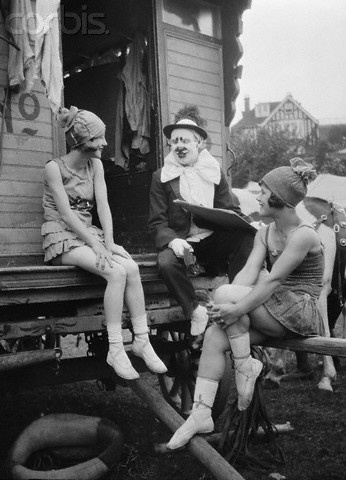 circus performers chatting 1920's?