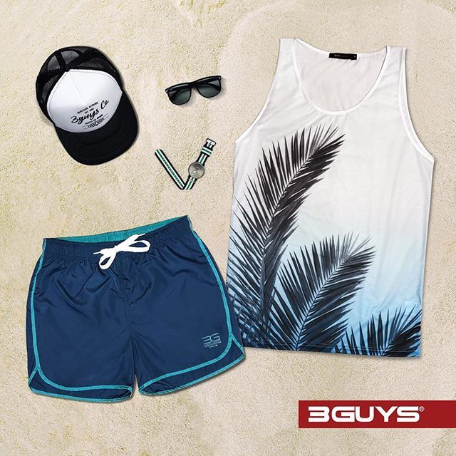 Summer Essentials! Here's your style proof look for the beach: colorful swimwear shorts, cool vest and trucker cup!✔Shop Online ➜ www.3guys.gr ✔Free Shipping  #3guys #newcollection #springsummer17 #fashion #photooftheday #clothes #newarrival #style #instafashion #swimwear #vest #mensfashion #truckercap #swatches #sunglasses #beach #summer