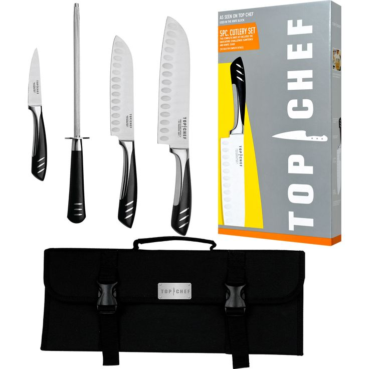 Top Chef 5-Piece Portable Stainless Steel Knife Set