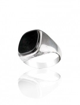 Silver & Onyx Ring - Available at Onyx Goldsmiths
