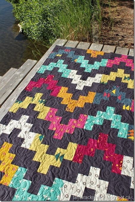 Belle Wave Quilt   by Terry as seen at Tamarack Shack - includes link to free pattern