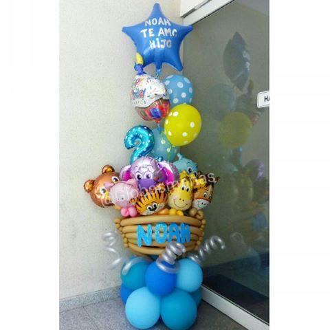Todos los animalitos abordaron el arca de Noé para celebrar  el cumpleaños número 2 del bebé Noah @sarazakhour  hermoso arreglo  que hace honor a su nombre. #noe  #arcadenoe  #globos #balloons  #balloon #animales #animal #bebe  #cumpleaños  #cumple #2anos  #2años #celebracion  #decoracion #decoración  #eventos #fiesta  #fiestas #bebé #nacimiento #babyshower  #yanacio #hechoenvenezuela #hechoamano #handmade #hechoconamor