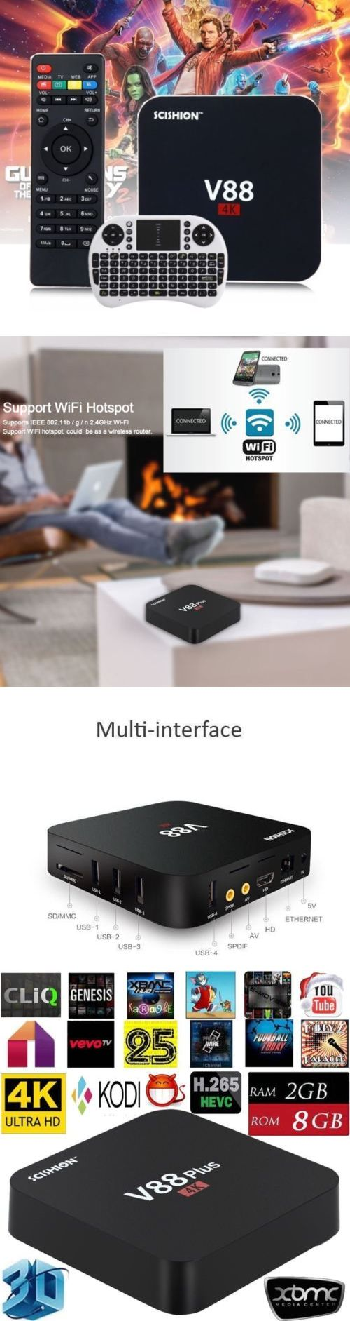 Cable TV Boxes: Hd Rk3229 V88 Quad Core Android 5.1 Smart Tv Box -4K- 8Gb Latest 16.1 + Keyboard -> BUY IT NOW ONLY: $30.52 on eBay!
