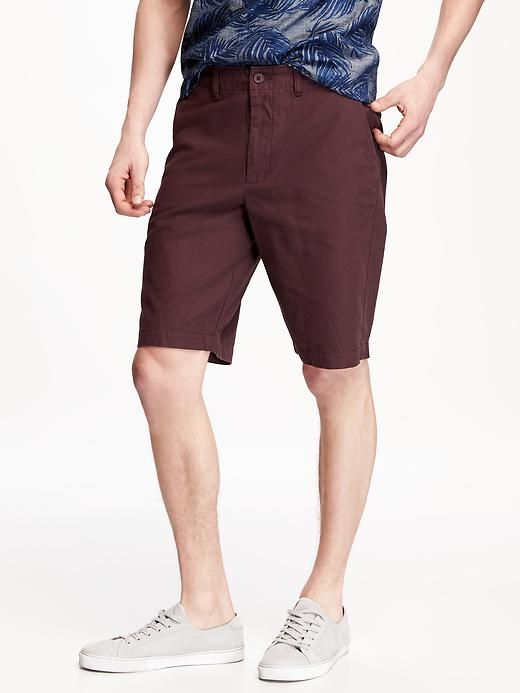 "Broken-In Khaki Shorts for Men (10 1/2"")"