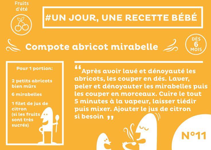 #recette #bébé du jour #11 : Une délicieuse compote abricot mirabelle. Bon appétit et bonne diversification =)