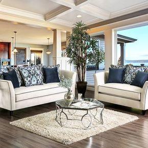 House of Hampton Calanthe 2 Piece Living Room Set Upholstery: Off ...