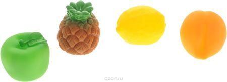 """Жирафики Набор игрушек для ванной Фрукты 4 шт  — 296р. --------- Набор игрушек для ванной Жирафики """"Фрукты"""" привлечет внимание вашего малыша и не позволит ему скучать. При сжатии в руке забавные игрушки пищат и весело брызгаются предварительно набранной водой. В набор входят: яблоко, ананас, лимон, персик. Эти чудесные игрушки можно окунать в воду, мять, слюнявить, грызть, кидать. Выполненные из качественного, гипоаллергенного ПВХ-пластизоля, игрушки будут радовать малыша долгое время…"""