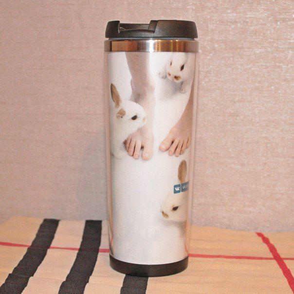 Tubmler rabbits travel mug