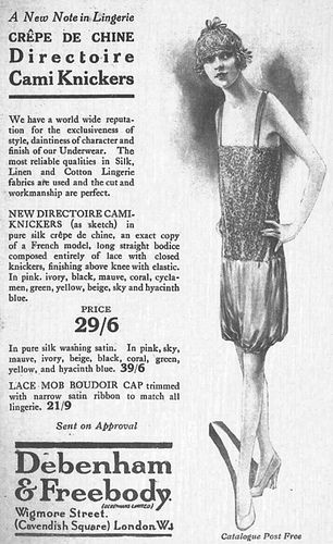directoire knickers in the 1950s pictures | DIRECTOIRE CAMI KNICKERS ADVERTISEMENT 1920s | Flickr - Photo Sharing!