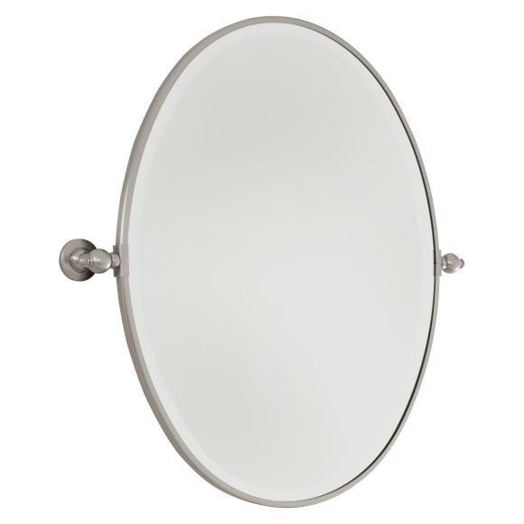 1000 ideas about brushed nickel mirror on pinterest - Bathroom vanity mirrors brushed nickel ...