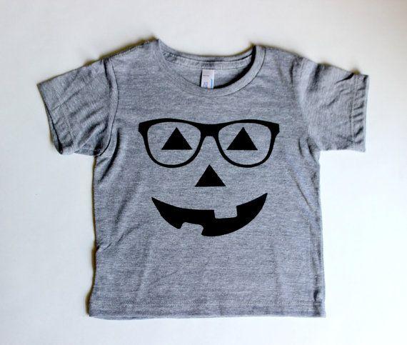Hipster Pumpkin Tshirt Halloween Toddler Tee by VanillaBeanBaby, $14.00