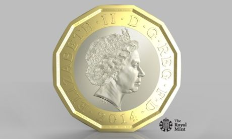 The new British pound in yer pocket, will not be a dodecagonal prism except at low resolution. All that raised lettering, the numbers, the bevelled edges, the Queen't profile...deviates wildly from the definition of a prism...