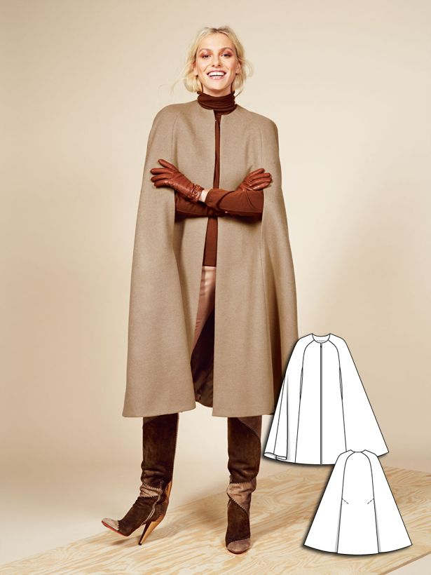 Long Cape 11/2015 #117A http://www.burdastyle.com/pattern_store/patterns/long-cape-112015--2?utm_source=burdastyle.com&utm_medium=referral&utm_campaign=bs-tta-bl-151109-CoolCamelCollection117A