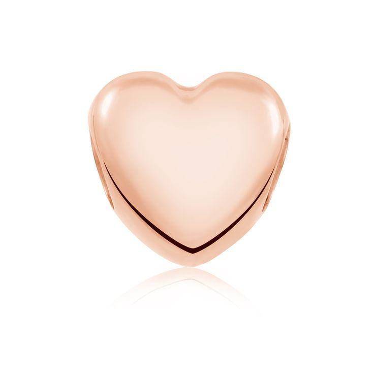 Rose gold charm (11951278) #rosegold #emmaandroe