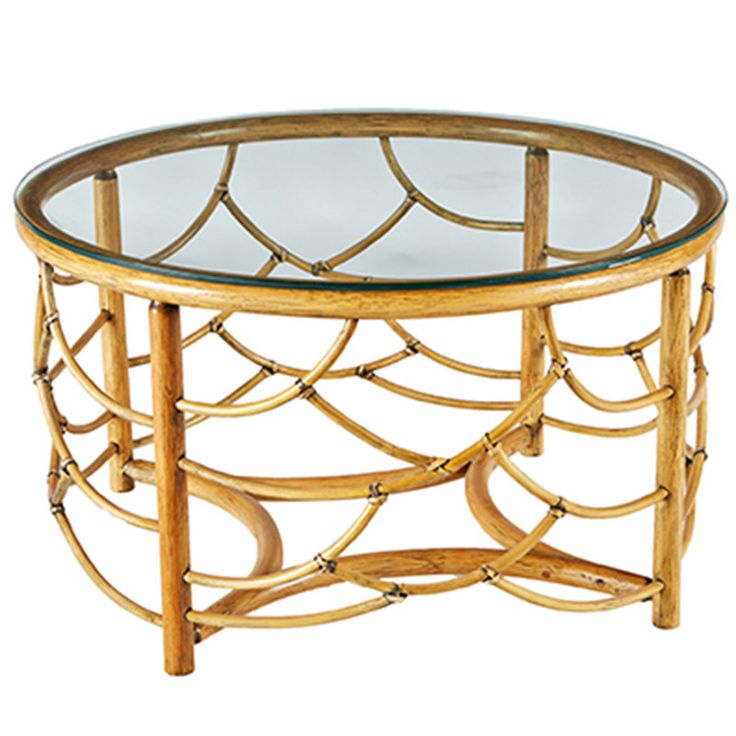 furniture round rattan coffee table natural - Rattan Coffee Table