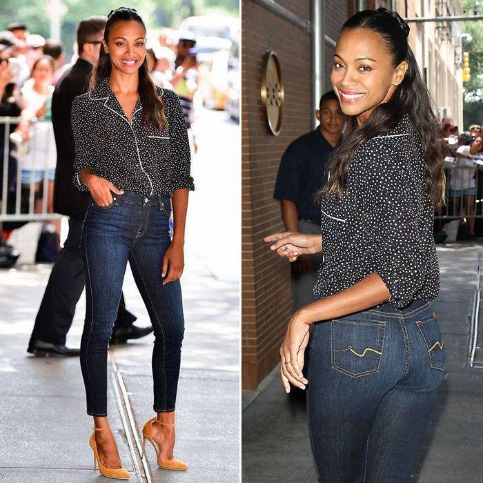 Как мы уже упоминали, американская актриса Зои Салдана (Zoe Saldana) стала лицом 7 For All Mankind. Надо отметить, что смотрится она в джинсах «Севен» великолепно. Подобрать себе джинсы из новой осенней коллекции 7 For All Mankind вы можете в JiST, ул. Саксаганского 65 или jist.ua #fashionable #fall #outfitidea: #stylish #Zoe Saldana looks #chic in #blue #7ForAllMankind #jeans #мода #стиль #тренды #джинсы #ЗоиСалдана #модно #стильно #осень #киев