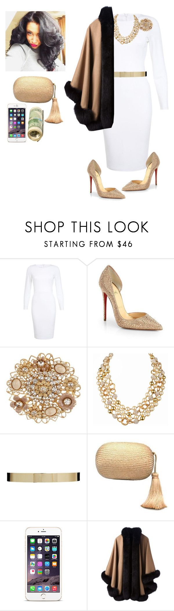 """Church!!!!!"" by cogic-fashion ❤ liked on Polyvore featuring Miss Selfridge, Christian Louboutin, Liz Palacios, Chanel, ASOS, KOTUR and 32 Paradis Sprung Frères"