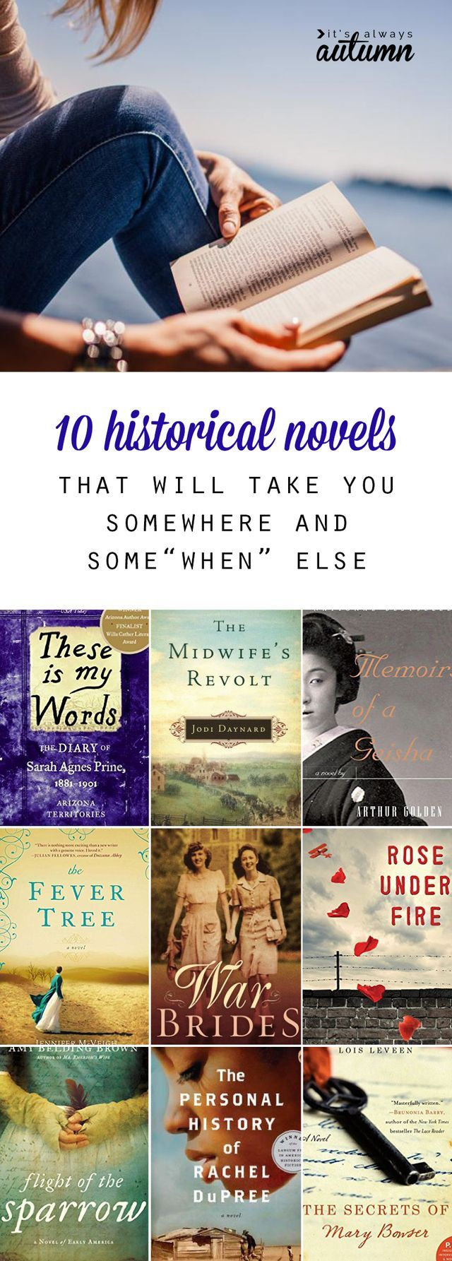 10 amazing novels that will take you to a different time - 10 amazing historical novels that will take you to another place and time. I love finding new ideas for what books to read next! Great historical fiction.
