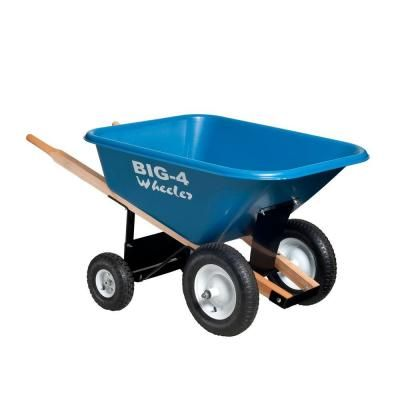 8 cu. ft. Heavy-Duty Wheelbarrow-B4W-8 - The Home Depot