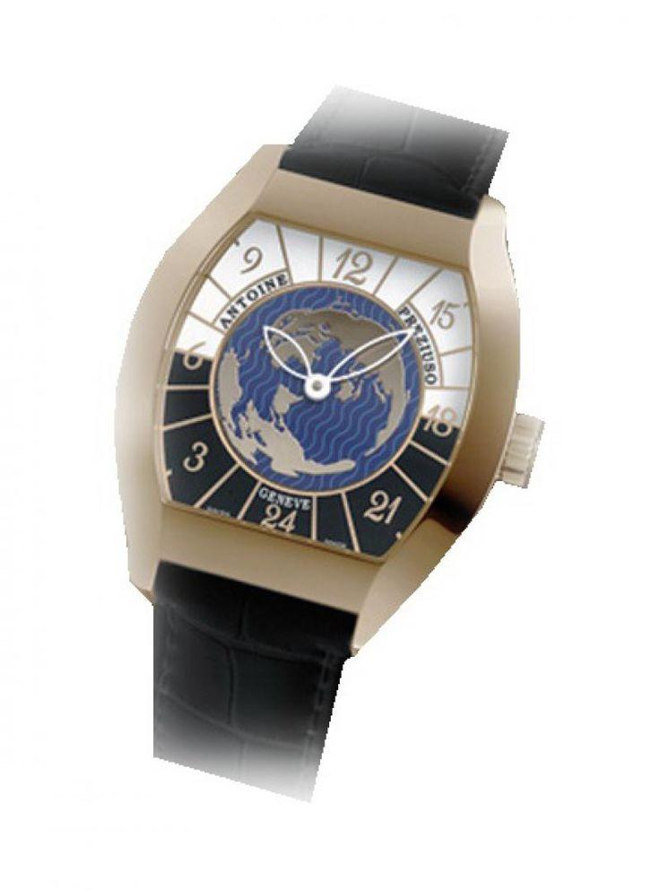 Часы Antoine Preziuso Tonneau RG Croco Collections Transworld Tonneau