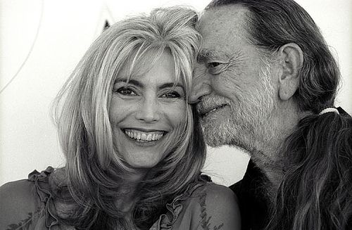 Emmylou Harris (and Willie Nelson). American singer and songwriter. (born April 2, 1947)