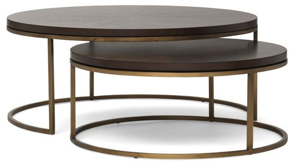 Tables Bassey Nesting Cocktail Table Mitchell Gold Lillian August Furniture Coffee