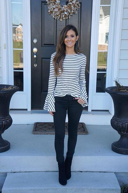 Black and White Bell Sleeves