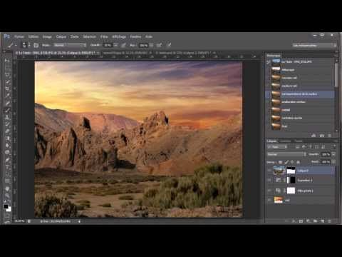 Tutoriel Photoshop CS6  -  changer le ciel et sublimer le paysage - partie 1 - YouTube