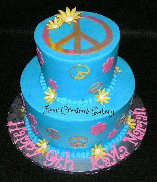 Peace Sign Birthday Cake   Flickr - Photo Sharing!