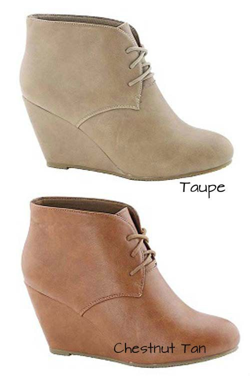 Everyday Wedge Booties - My Sisters Closet