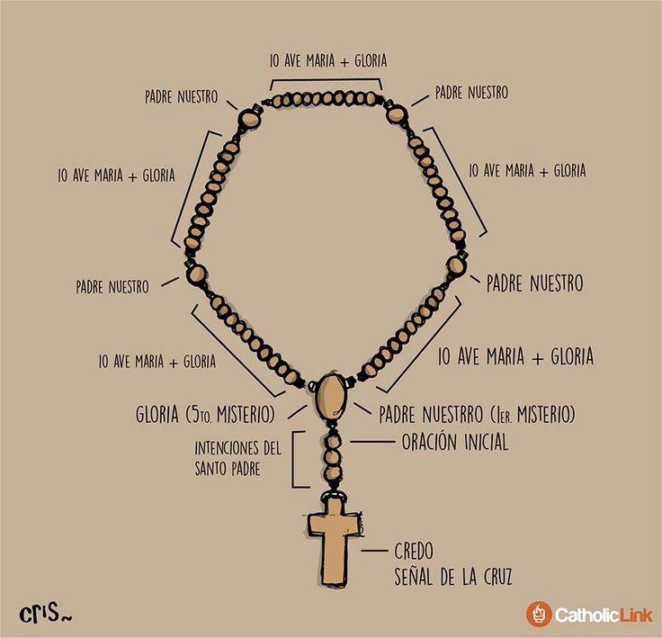 Aquí te contamos cómo rezar el rosario. Si eres principiante puedes empezar por rezar un misterio al día hasta que logres completarlo todo.