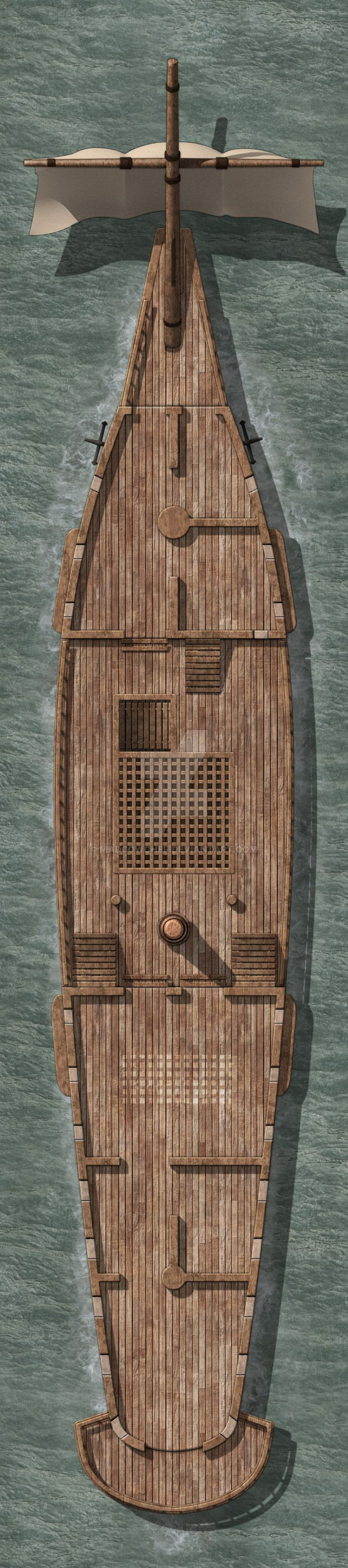 Galleon Small 2 Main Deck by Madcowchef