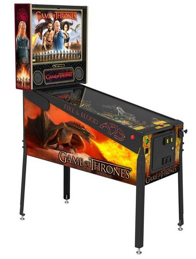Game Of Thones Pinball Table Will Stain Your Quarters With Fire And Blood -  #gameofthrones #pinball