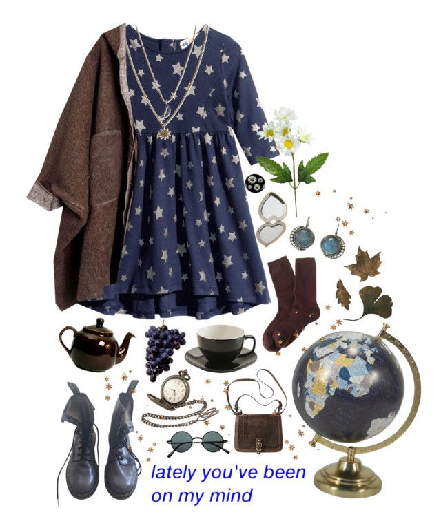 Words of love and broken english by purpleghost on Polyvore featuring polyvore, fashion, style, H&M, J.Crew, Dr. Martens, Black Pearl, Blackbird and the Snow, Rachel Rachel Roy, Aerie, Threshold, Price & Kensington and clothing