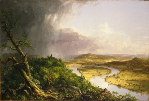 About the Hudson River School. I cannot stop thinking about Hudson River School