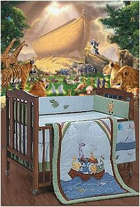Noah's Ark baby room. Can I paint this mural for Frankie's room? :p