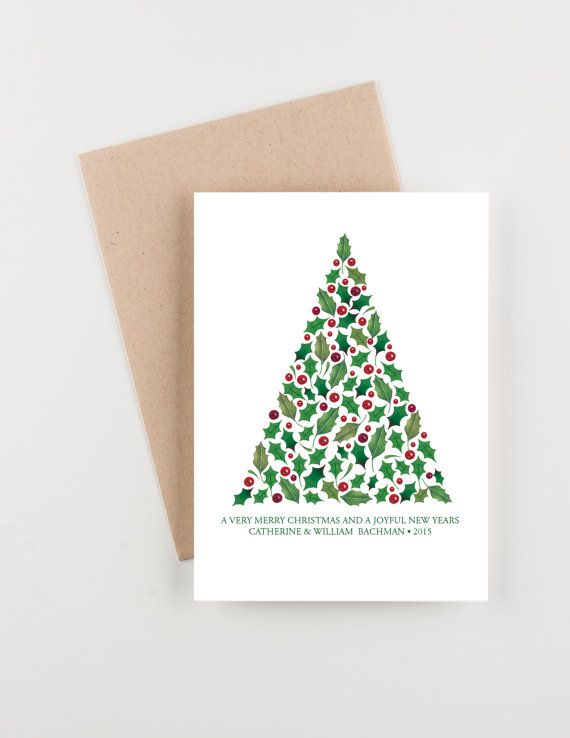Merry Christmas... this set of holiday cards features your choice of wording and a place for your personalization and the year on the front of the card. This card is blank inside for your message. The personalization is on the front of the card. Please send me your names for