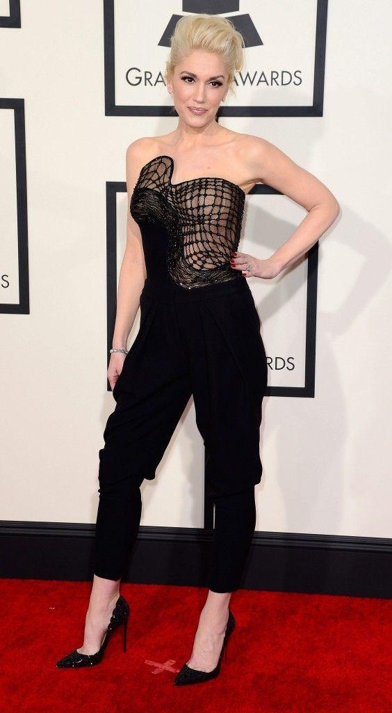 Gwen Stefani droeg geen jurk maar broek. Toch ziet ze er prachtig uit