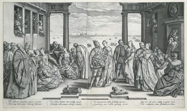 De Venetiaanse bruiloft, Hendrick Goltzius, 1584