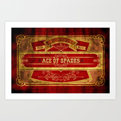 Ace Art Print by Ace of Spades - $17.99