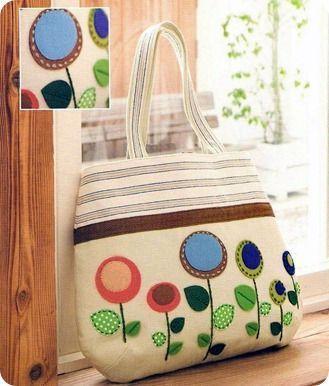 Bolsa com flores #sew #patterns #bags