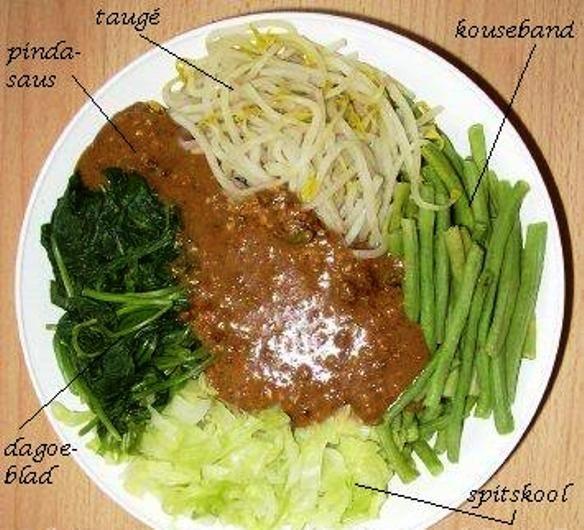 Pitjel is een Javaanse saladeschotel met pinda saus die in Suriname een grote populariteit geniet. Het is een vegetarisch recept en wordt vaak op feesten en partijtjes geserveerd. De naam pitjel wordt op verschillende