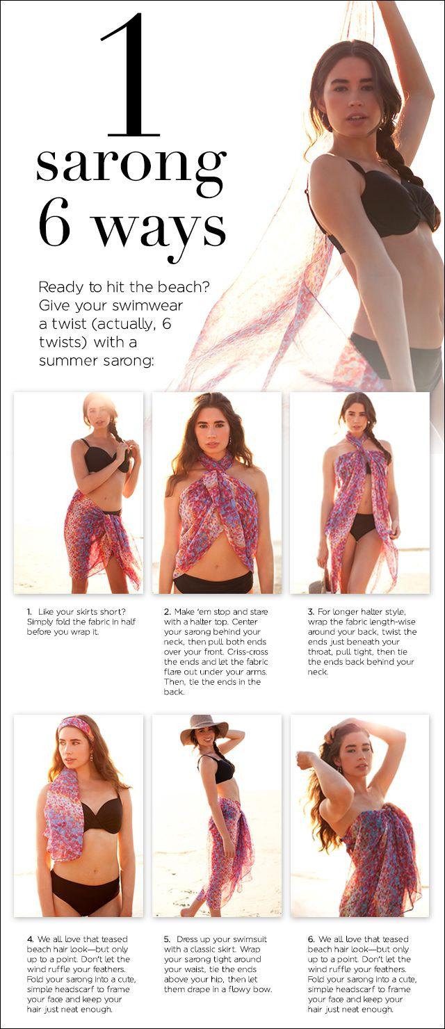 Eén sjaal. Zes manieren om hem in de zomer te dragen. #pareo #sjaal