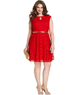 Trixxi plus size dress short-sleeve colorblocked pullover