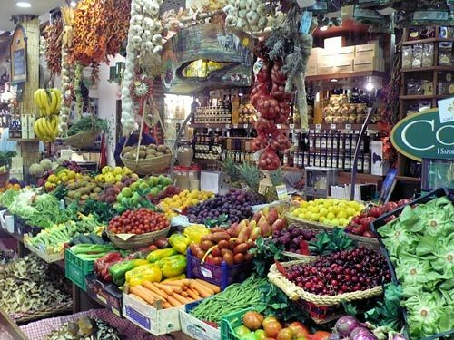 The Central Market - where you can buy all of your fresh fruits, veggies, meats and cheeses!