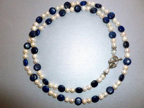 Dahkeiy Tasha Long Necklace  White Freshwater Pearls by DahkeiyJewellery