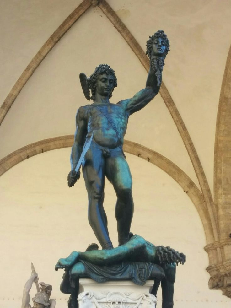 The large statue of Perseus in the Uffizi.