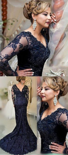 #navy blue prom party dresses # long sleeves prom dresses #womens prom dresses #dresses for women #mother of bride dresses